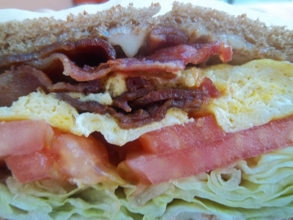 Tomy's Cafe Diner's Bacon & Egg Sandwich