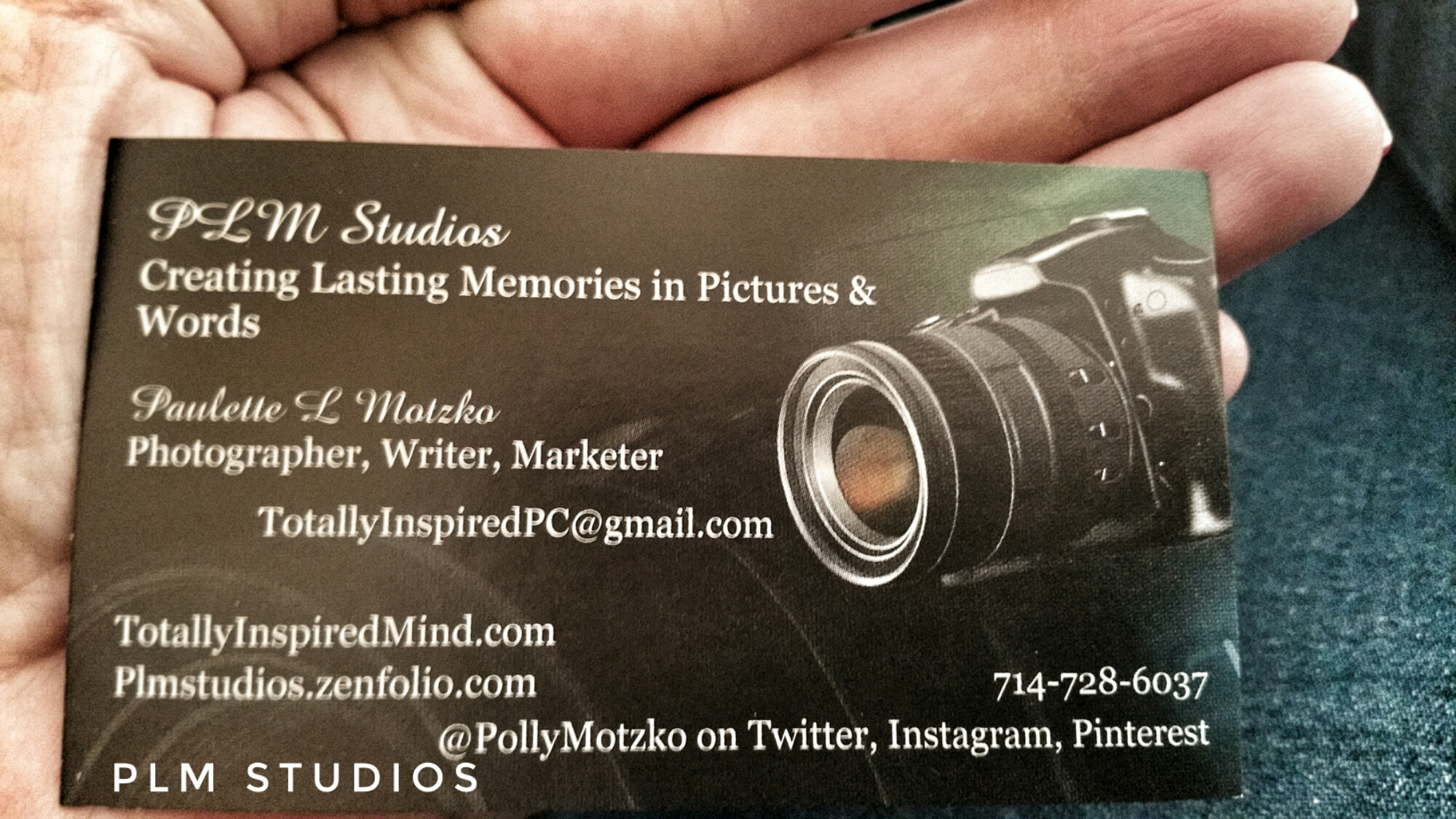 Newest Business Card for PLM Studios, November 2016 – Super ...